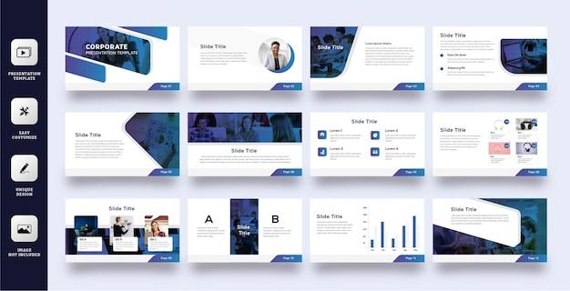 Szablon prezentacji slajdów biznesowych tech