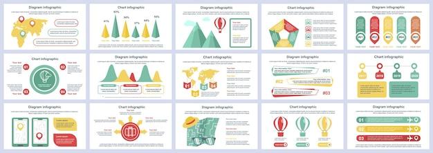 Szablon prezentacji slajdów infografiki podróży wakacje