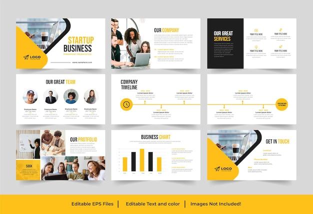Szablon prezentacji startowej lub projekt prezentacji startowej biznesowej