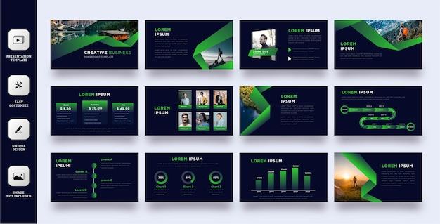 Szablon prezentacji zielony charakter