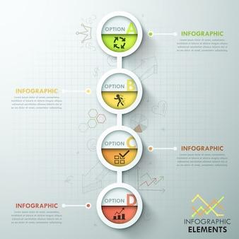 Szablon procesu nowoczesnej infografiki