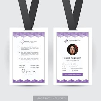 Szablon profesjonalnego dokumentu tożsamości pracownika