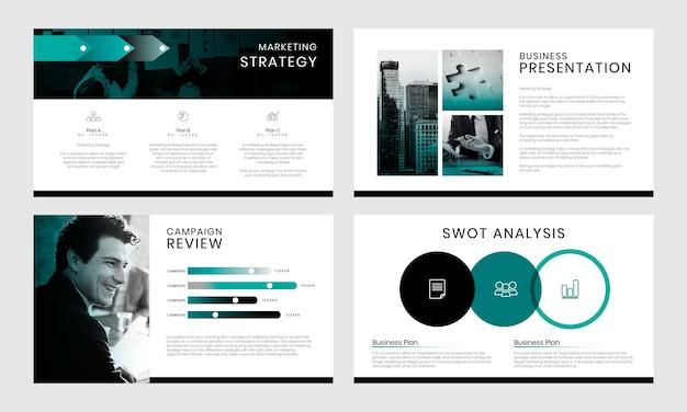 Szablon profilu firmy. nowoczesna prezentacja biznesowa