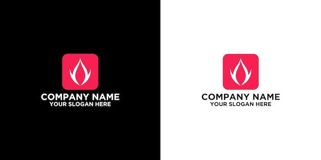 Szablon projektów logo ognia premium wektor