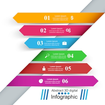 Szablon projektu 3d infographic