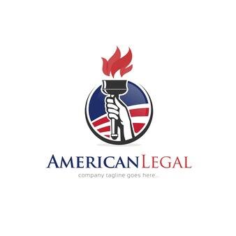 Szablon projektu amerykańskiego logo prawnego