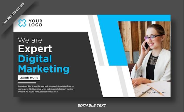 Szablon projektu banera eksperta ds. marketingu cyfrowego