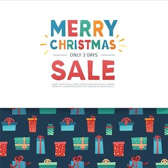 Szablon projektu banera na ofertę świąteczną
