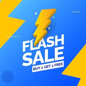 Szablon projektu banera z ofertą promocyjną flash