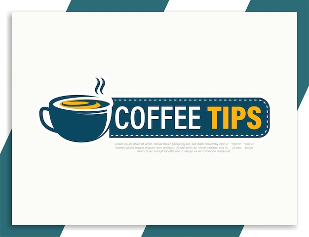Szablon projektu banera z poradami na temat kawy z pomysłem na pomysł