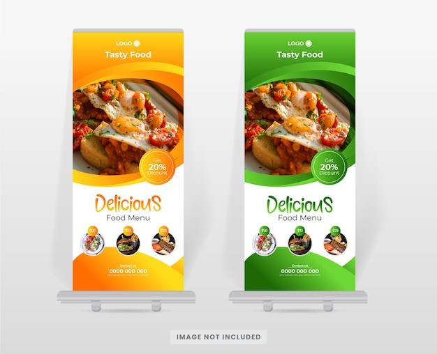 Szablon projektu banera żywności i restauracji