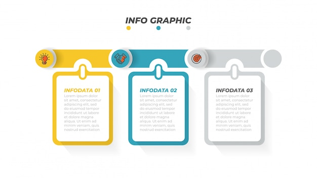 Szablon projektu biznes infographic z ikonami marketingu i 3 opcje, kroki lub procesy. ilustracji wektorowych.