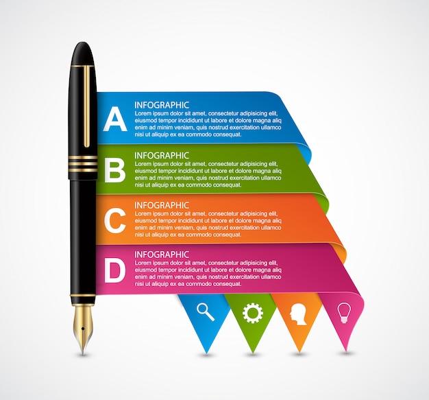 Szablon projektu biznes infographic.