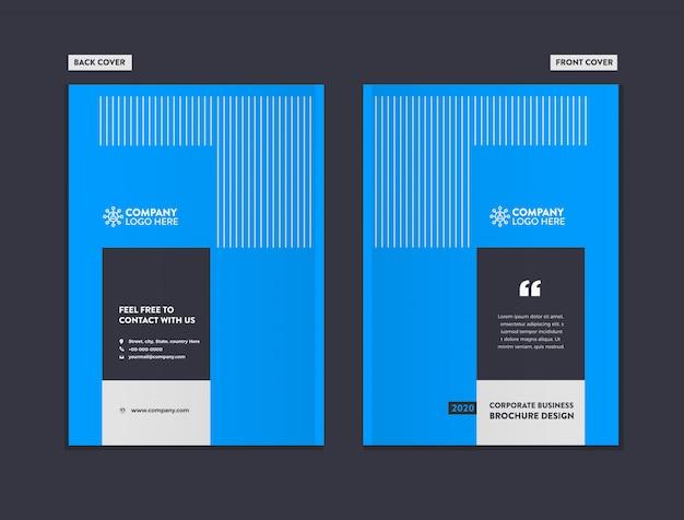 Szablon projektu broszura biznes okładka