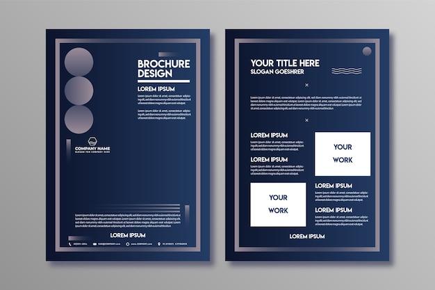 Szablon projektu broszura biznesowa