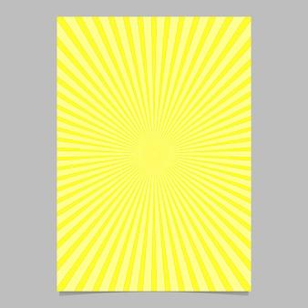Szablon projektu broszura sunburst streszczenie
