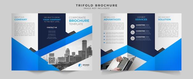 Szablon projektu broszury biznesowej trifold