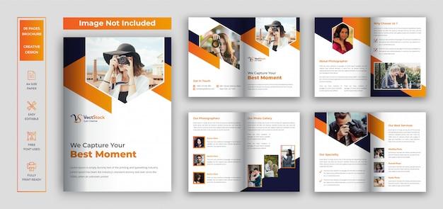 Szablon projektu broszury fotografii