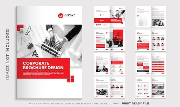 Szablon projektu broszury korporacyjnej, szablon broszury profilu firmy