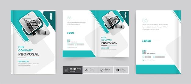 Szablon projektu broszury okładka profil firmy strona raportu rocznego układ firmy korporacyjnej