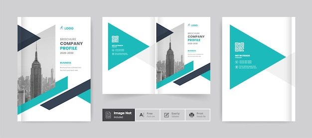 Szablon projektu broszury profil firmy strona tytułowa raportu rocznego minimalnie czysty motyw