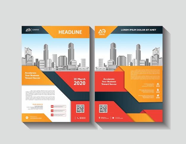 Szablon projektu broszury roczny raport magazyn magazyn prezentacja korporacyjna