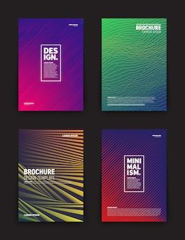 Szablon projektu broszury ulotki wektor okładka