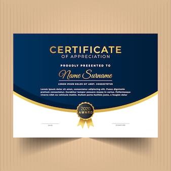 Szablon projektu certyfikatu do uznania