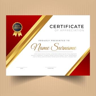 Szablon projektu certyfikatu uniwersalnego premium