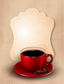 Szablon projektu czerwony kubek kawy