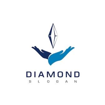 Szablon projektu diamentowego logo
