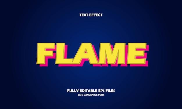 Szablon projektu efektu tekstu płomienia