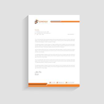 Szablon projektu elegancki papier firmowy premium.