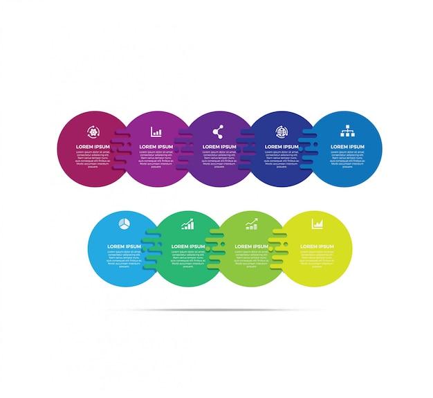 Szablon projektu etykiety infographic