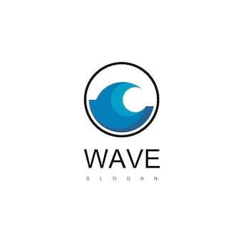 Szablon projektu falowego logo