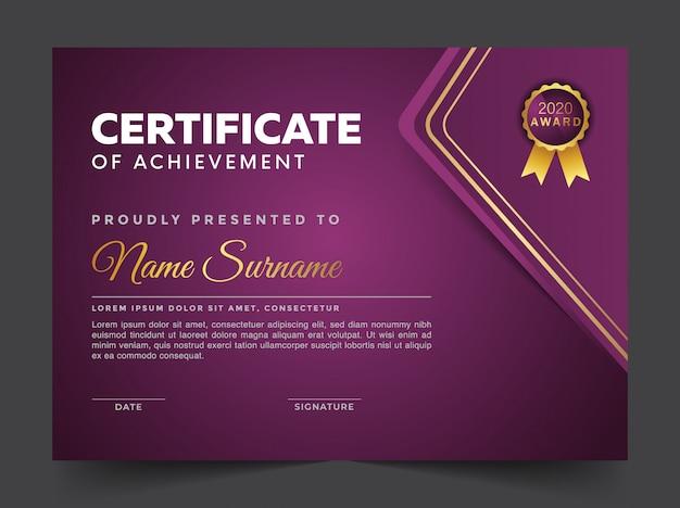 Szablon projektu geometryczny certyfikat premium