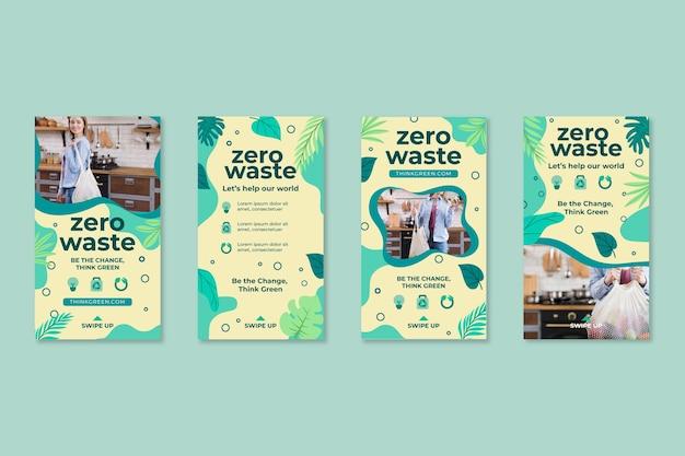 Szablon projektu historii na instagramie zero waste