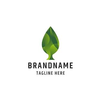 Szablon projektu ikona logo kolorowy liść
