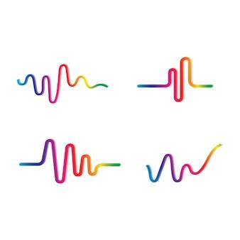 Szablon projektu ilustracji wektorowych fal dźwiękowych