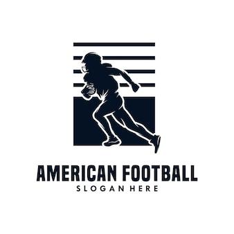 Szablon projektu ilustracji wektorowych futbolu amerykańskiego