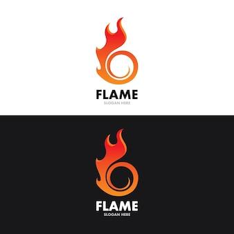 Szablon projektu ilustracji wektorowych płomienia ognia