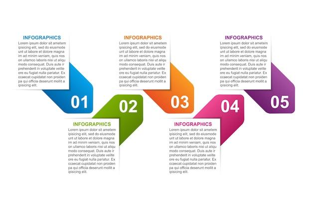 Szablon projektu infografikę opcji biznesowych
