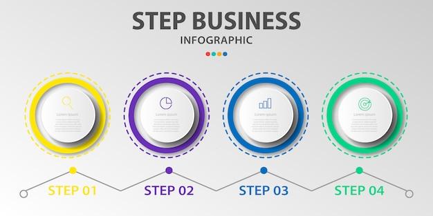 Szablon projektu infografikę plansza