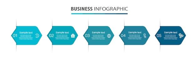 Szablon projektu infografiki biznesowej z 4 krokami lub procesami opcji