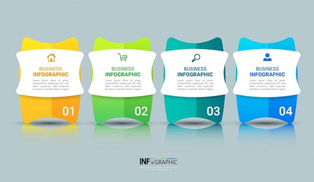 Szablon projektu infografiki biznesowych