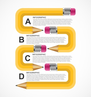 Szablon projektu infografiki edukacji.