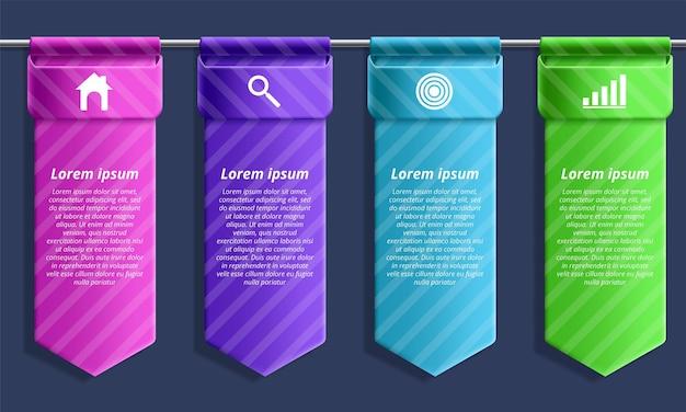 Szablon projektu infografiki z ikonami