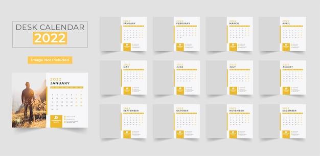 Szablon projektu kalendarza biurkowego 2022