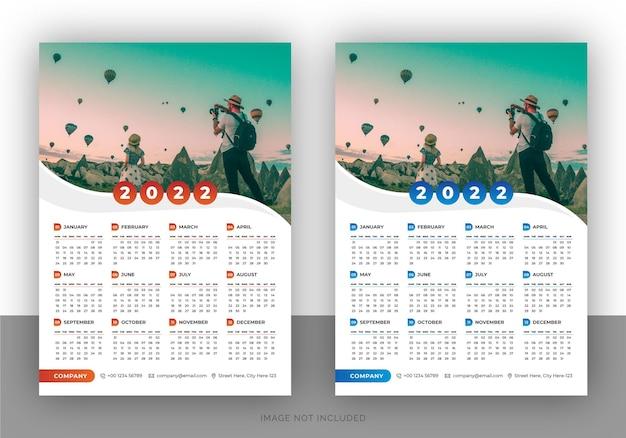 Szablon projektu kalendarza ściennego kolorowy biznes