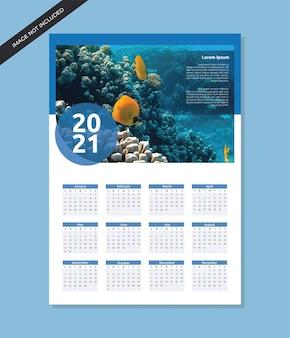 Szablon projektu kalendarza ściennego